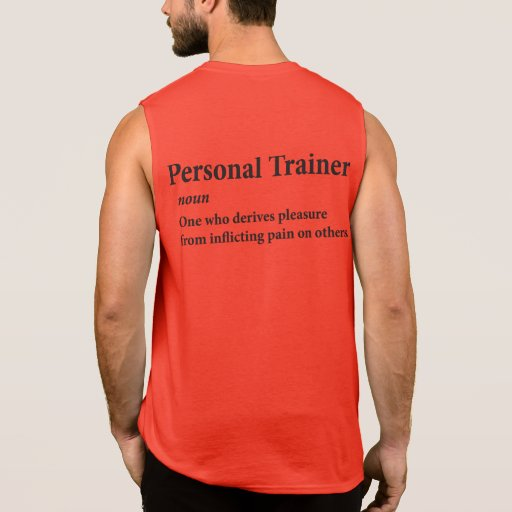 Personal Trainer Definition Tee Shirts Zazzle