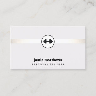 Personal trainer business cards zazzle personal trainer dumbbell logo fitness instructor business card colourmoves