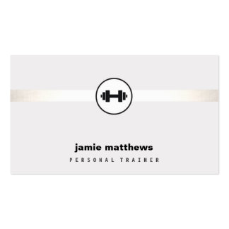 Personal Trainer Dumbbell Logo Fitness Instructor Double-Sided Standard Business Cards (Pack Of 100)