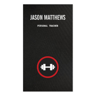 Personal Trainer Dumbbell Logo Fitness Training Double-Sided Standard Business Cards (Pack Of 100)