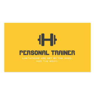 Personal Trainer Exercise Gym Fitness Business Business Card Template