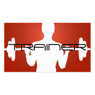 Personal Trainer Exercise Gym Fitness Business Business Card Templates