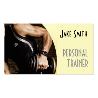 Personal Trainer Exercise Gym Fitness Business Double-Sided Standard Business Cards (Pack Of 100)