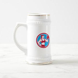 Personal Trainer Female Lifting Dumbbell Circle Coffee Mug