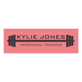 Personal Trainer Fitness barbell weight Double-Sided Mini Business Cards (Pack Of 20)
