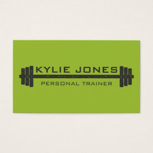 Personal trainer business cards zazzle personal trainer fitness barbell weight business card colourmoves