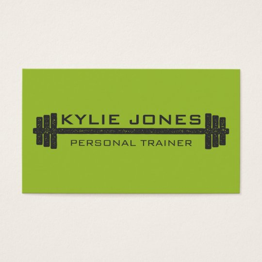 personal trainer gift certificate template - personal trainer fitness barbell weight business card zazzle