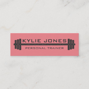 Personal trainer business cards zazzle personal trainer fitness barbell weight mini business card colourmoves