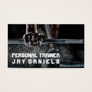 Personal Trainer Fitness BodyBuilder Business Card