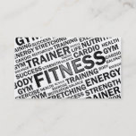 """Personal Trainer &amp; Fitness Business Card<br><div class=""""desc"""">Modern business card design for fitness companies or anyone working as a personal trainer. You can find other promotional products matching this card in my store. If you have any questions or requests please contact me.</div>"""