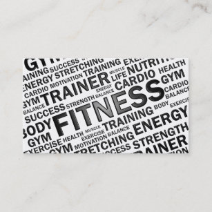 personal trainer business cards zazzle
