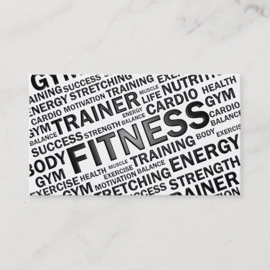 Personal trainer fitness business card zazzle personal trainer fitness business card colourmoves