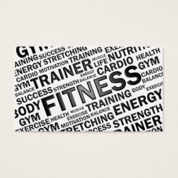 Fitness Business Cards Fitness Business Card Templates - Personal trainer business cards templates