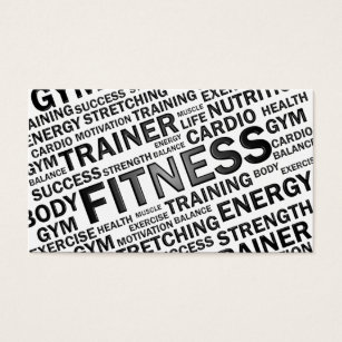 Fitness business cards 1500 fitness business card templates personal trainer fitness business card cheaphphosting Image collections