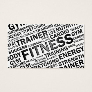 Personal Trainer & Fitness Business Card at Zazzle