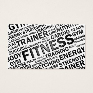 Professional Business Personal Trainer & Fitness Business Card