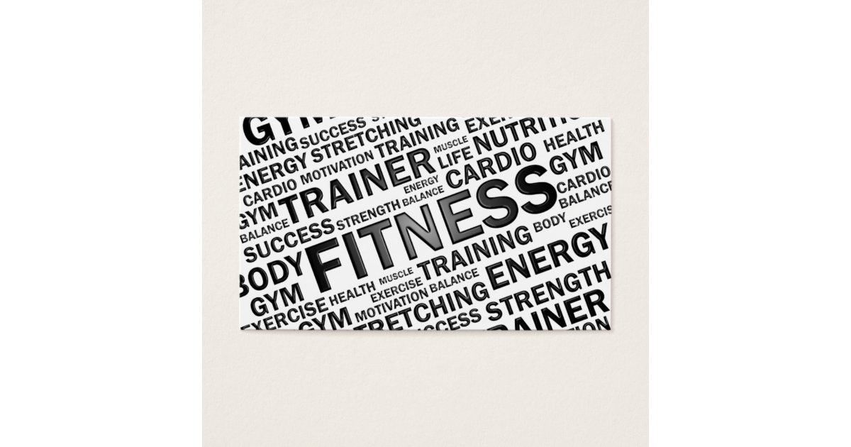 Fitness Business Cards Fitness Business Card Templates - Personal trainer business card template