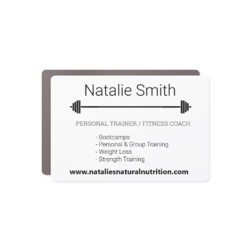 Personal Trainer Fitness Coach Logo Custom Car Magnet