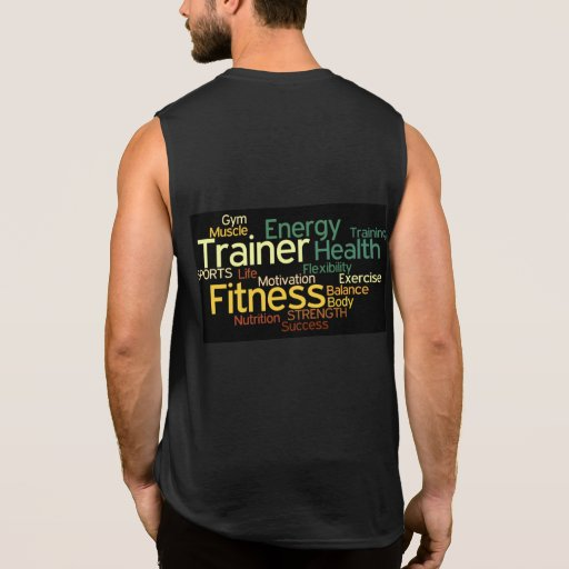 Personal trainer fitness sleeveless t shirt zazzle for Custom personal trainer shirts