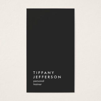 Personal Trainer Fitness Sport Coach Vertical Grey Business Card