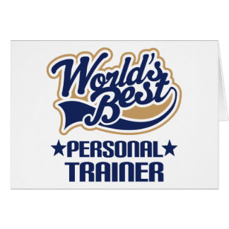 Personal Trainer Gift Greeting Card