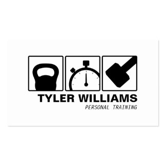 Personal Trainer Kettlebell, Dumbbell, Stopwatch 2 Business Card