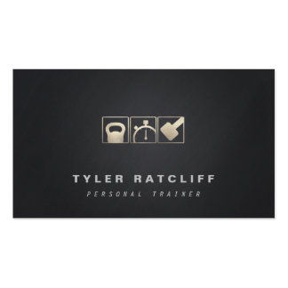Personal Trainer Kettlebell, Dumbbell, Stopwatch Business Card