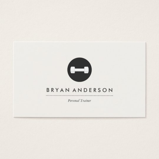 personal trainer logo business card zazzle com