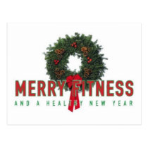 Personal Trainer MERRY FITNESS Postcard