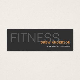 Personal Trainer Modern Elegant Business Card