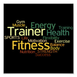 Personal Trainer or Fitness Center Poster