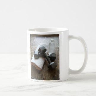 Personal Trainer or Fitness Dumbells Towel & Water Coffee Mug