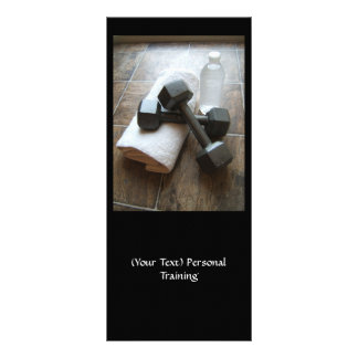 Personal Trainer or Fitness Dumbells Towel & Water Rack Card