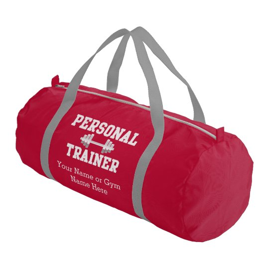 Personal Trainer Personalized Name Duffel Gym Bag  1c31c5e5083dc