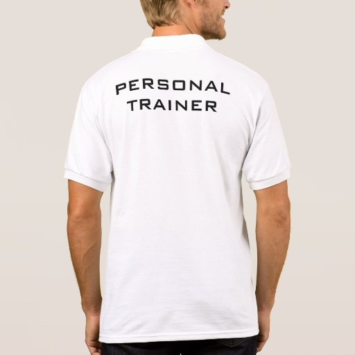 Personal trainer polo t shirt zazzle for Custom personal trainer shirts