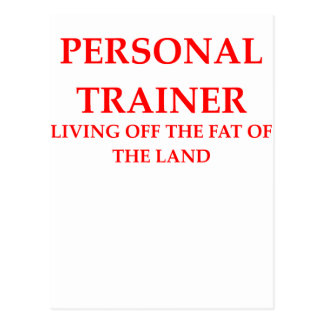 personal trainer post card