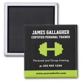 Personal Trainer Promotional Magnet magnet