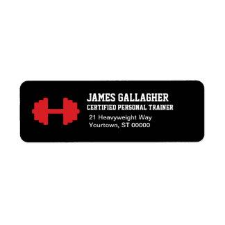 Personal Trainer Return Address Label