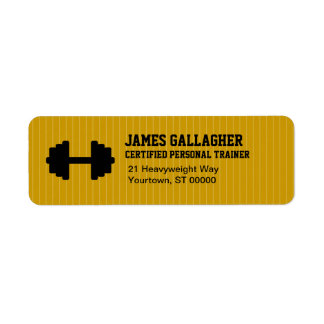 Personal Trainer Return Address Label
