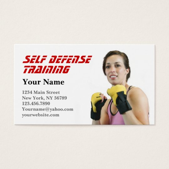 Personal Trainer Self Defense Business Card