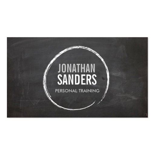 PERSONAL TRAINER SKETCH LOGO BUSINESS CARD