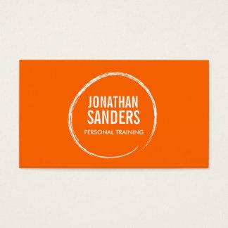 PERSONAL TRAINER SKETCH LOGO on Orange Business Card