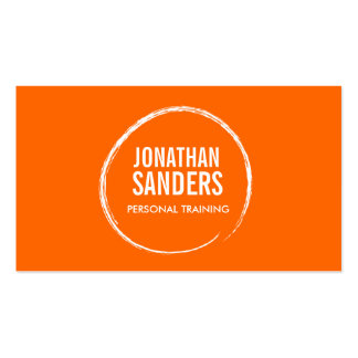PERSONAL TRAINER SKETCH LOGO on Orange Double-Sided Standard Business Cards (Pack Of 100)