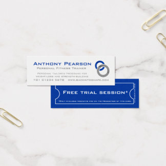 Personal Trainer skinny business promotion card
