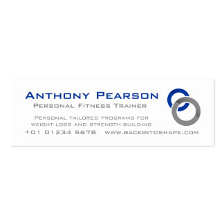 Personal Trainer skinny business promotion card Business Card