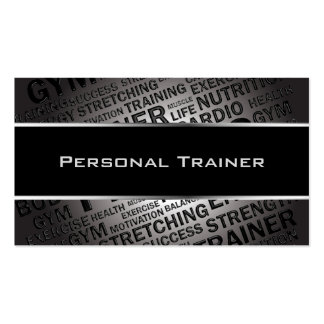 Personal Trainer Unique Business Card Standard Business Cards