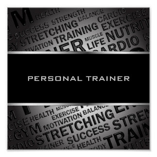 Personal Trainer Unique Poster