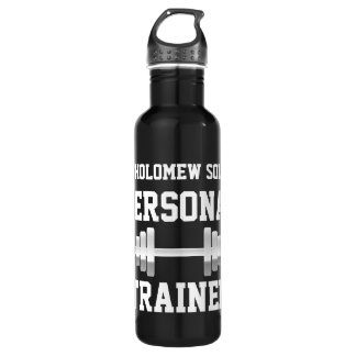 Personal Trainer Water Bottle, Personalized Name Stainless Steel Water Bottle