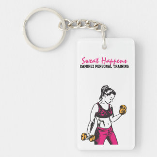 Personal Trainer Woman Weightlifter Keychain