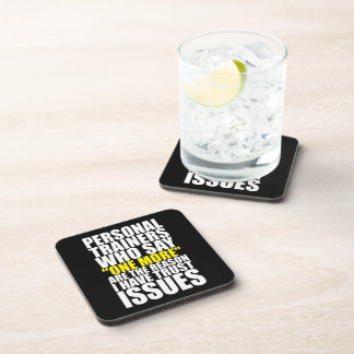 Personal Trainers and Trust Issues - Funny Workout Drink Coaster